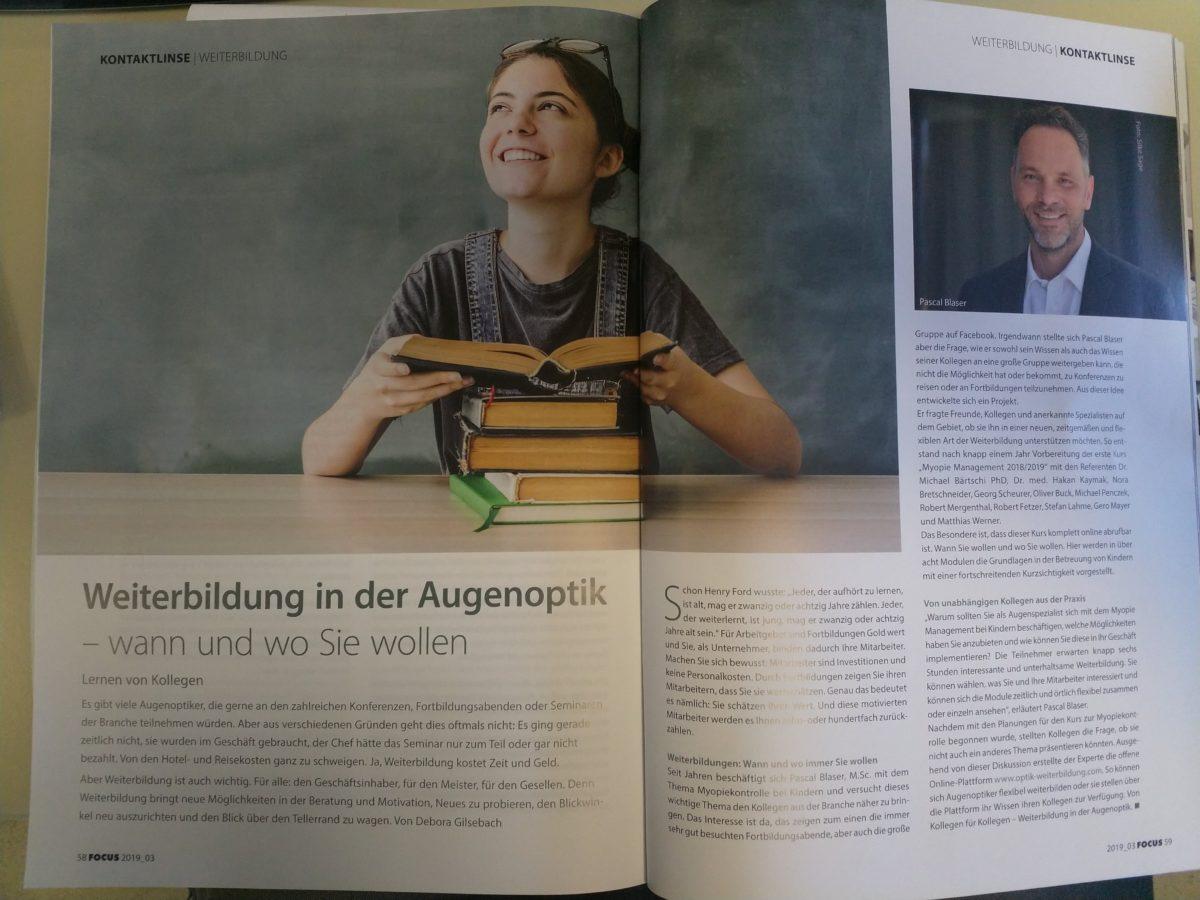 Focus Artikel Optik Weiterbildung